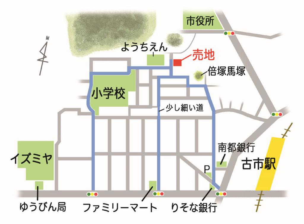 白鳥3丁目現地地図